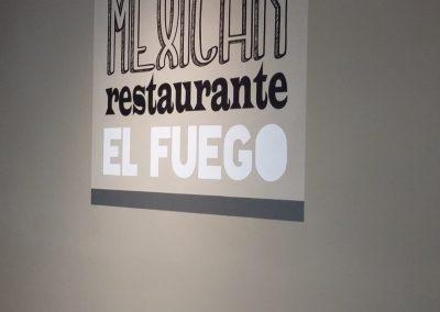 Muurschildering Mexican restaurants el fuego