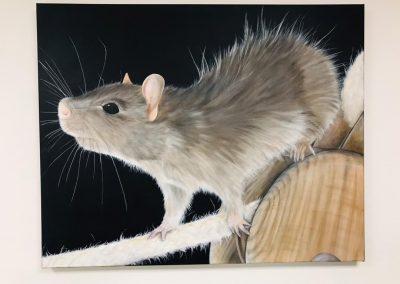 Paint Decoratieschilder Paneel grijze muis