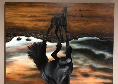 Paint Decoratieschilder Paneel paard