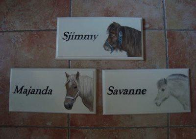 Paarden bordjes schildering