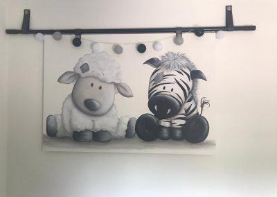 Babykamer beschildering