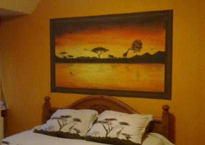 Muurschildering afrika