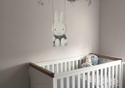 Muurschildering babykamer Nijntje