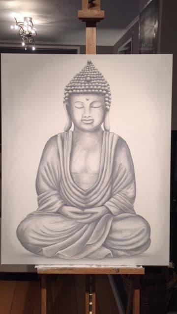 Canvast schilderij boeddha