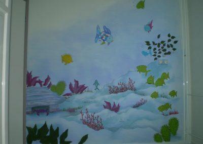 Muurschildering babykamer mooiste vis
