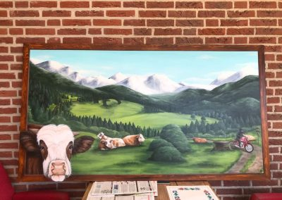 Oostenrijk koeien en motor