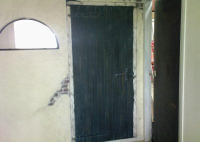 Oude deur imitatie