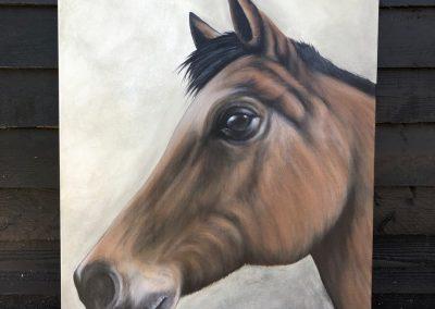 Paneel schilderij paard
