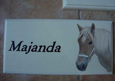 Paard naambord