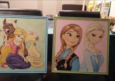 Prinsessen schilderijen