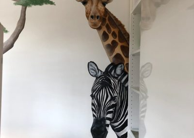 Muurschildering Safari