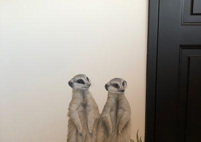 Safari muurschildering