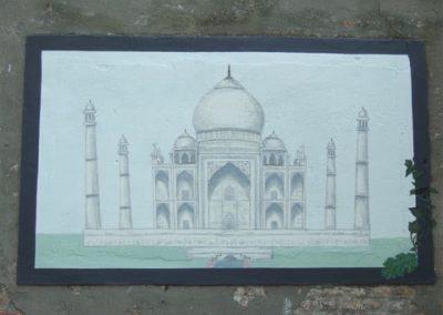 Muurschildering Taj Mahal
