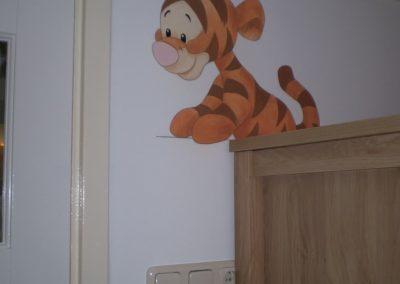 Muurschildering babykamer winnie de pooh
