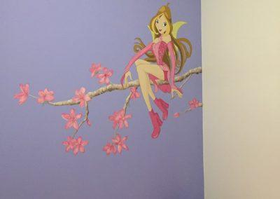 Winx Club Muurschildering