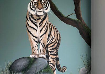 Tijger muurschildering door Paint