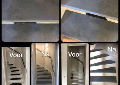 imitatietechnieken beton look traptreden